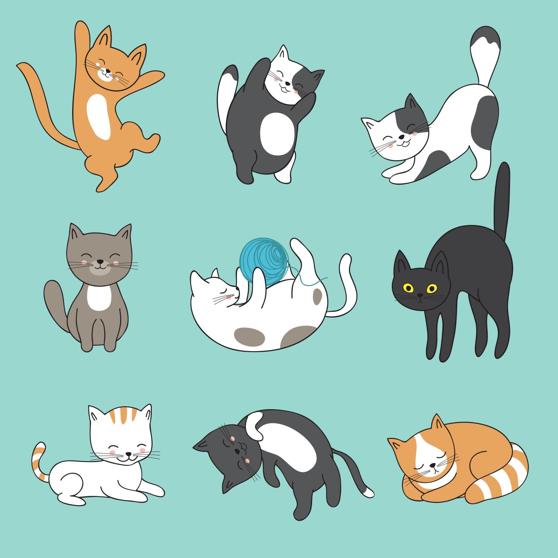 92 Gambar Animasi Lucu Kucing